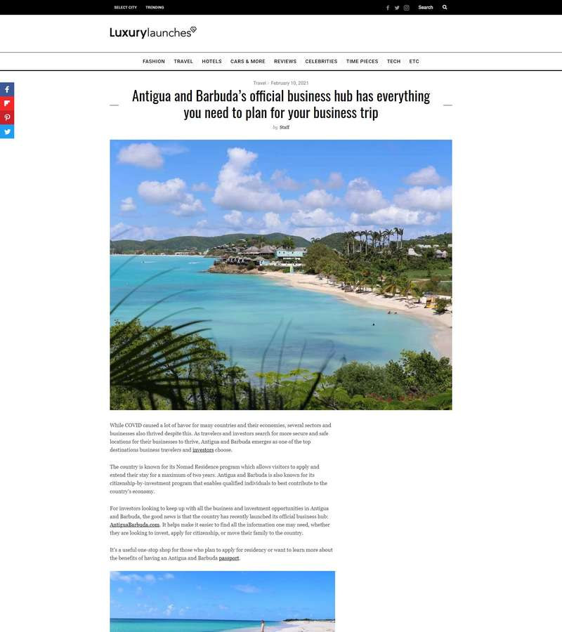 Antigua and Barbuda's official business hub has everything you need to plan for your business trip
